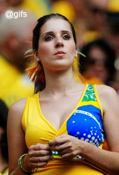 Beautiful Girls Brazilian Football Supporters World Cup