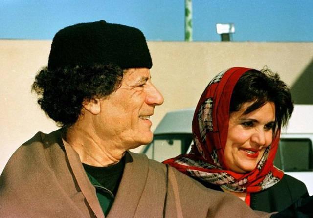 Al saadi gaddafi wife