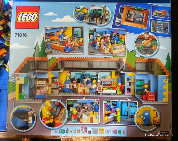LEGO The Simpson's Kwik E Mart Review set 71016 box rear