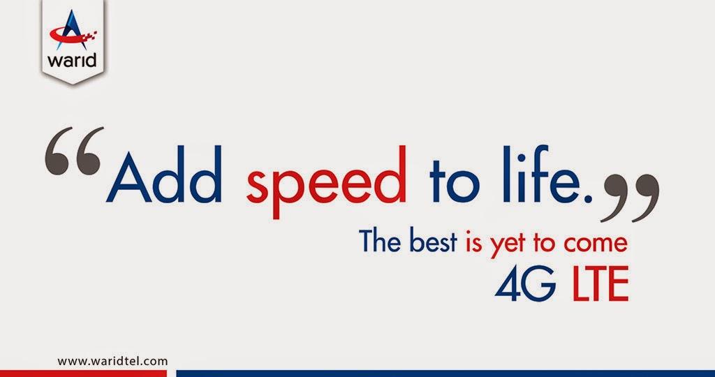 Warid 4G Advertisement