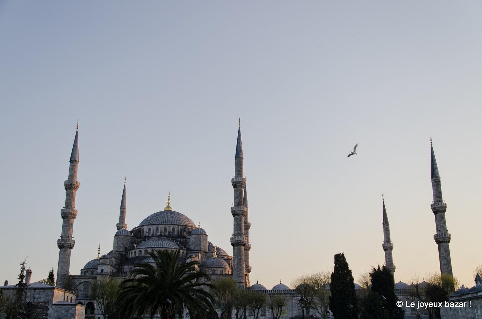 Istanbul - La Mosquée bleue au coucher du soleil