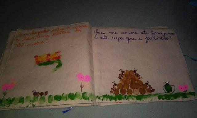 Exposição Poesia Leilão de Jardim Livro de Pano Berçário