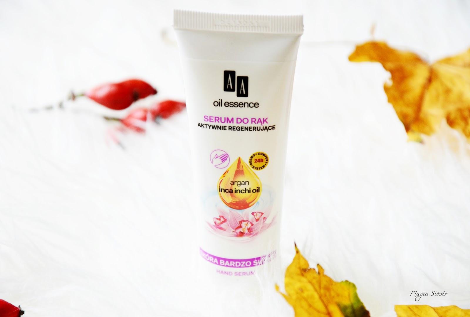 kosmetyki AA, recenzja, pudełeczko shiny box, serum do rąk aktywnie regenerujące
