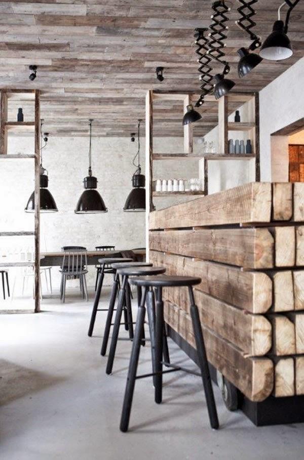 Heteruf Designs: Un restaurante con estilo industrial