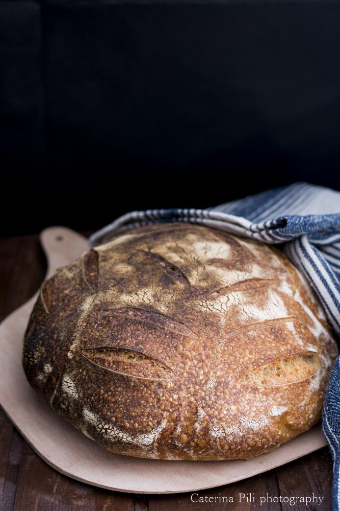 Pane a lievitazione naturale con farina Buratto