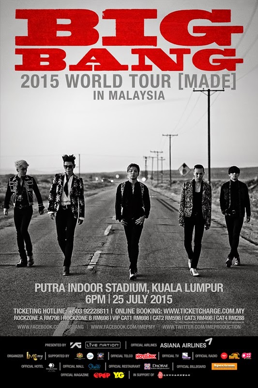 BIGBANG, Made, MALAYSIA, Konsert, Poster
