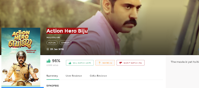 Action Hero Biju 2016 Malayalam Full Movie 700Mb HD
