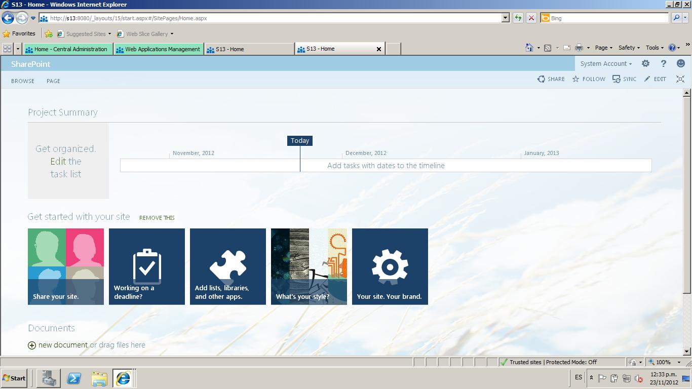 SharePoint 2013, nuevo aspecto. | SharePoint, SQL Server, Project Server