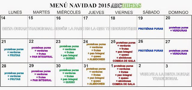 menú Navidad 2015 Dieta Escalera Nutricional ABCDietas
