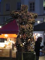 Nude filligre sculpture