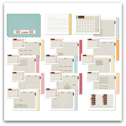 Stampin' Up! Up To Date Planner Template