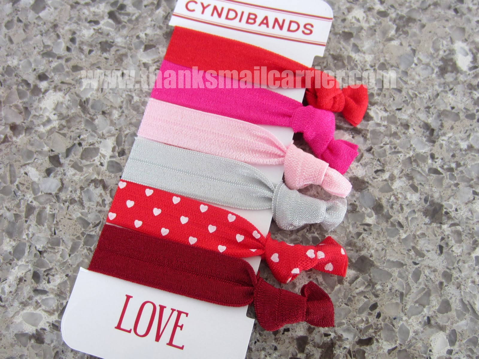 Valentine's Day hair ties