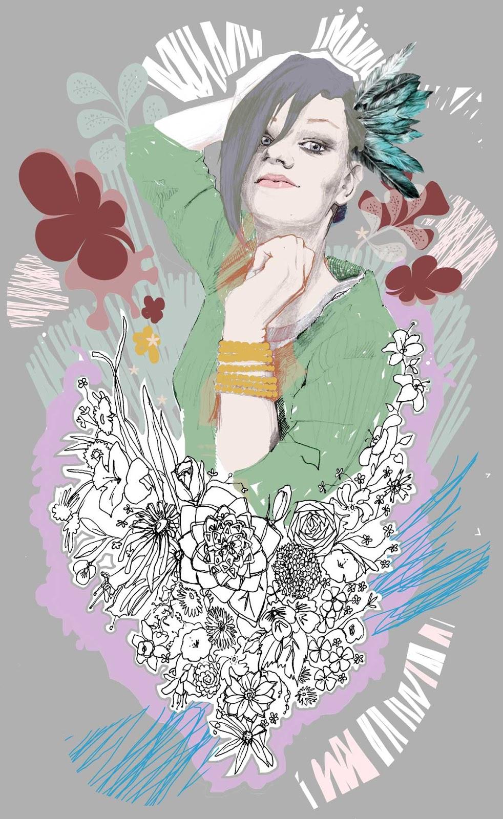 ilustracje Urbaniak portrety ilustracja na blogi strony internetowe do artykułów wierszy opowiadań