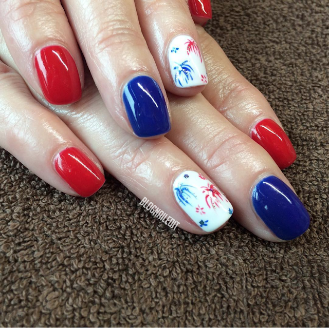 Fourth of July Nails by Nailed It @ www.blognailedit.co