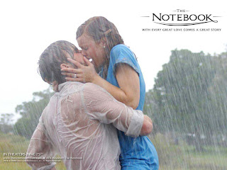 Kissing in the Rain Love Wallpaper
