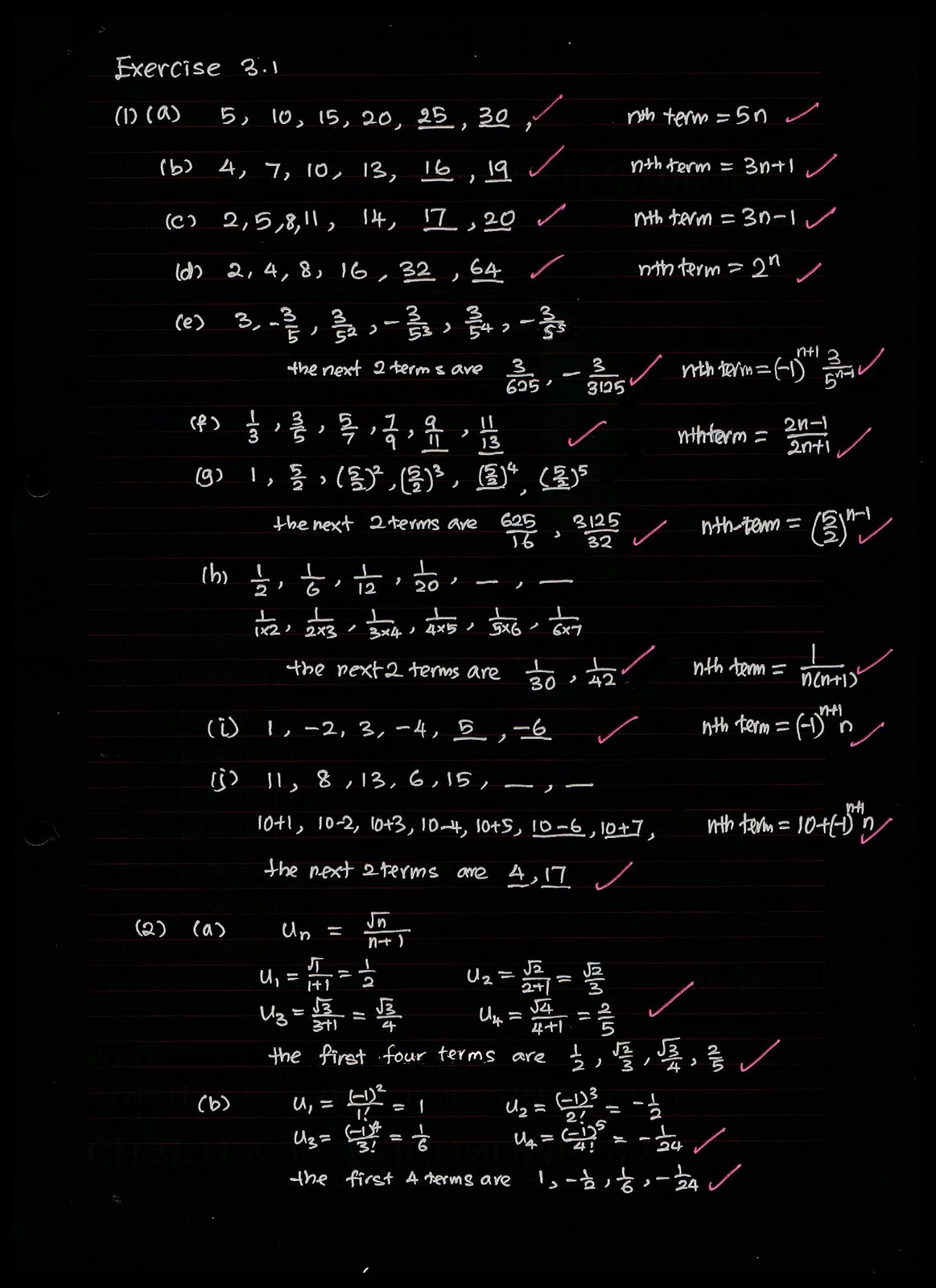 Stpm Mathematics T: SEQUENCE AND SERIES