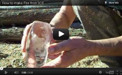 Cara Gokil Bikin Api Pakai Es Batu