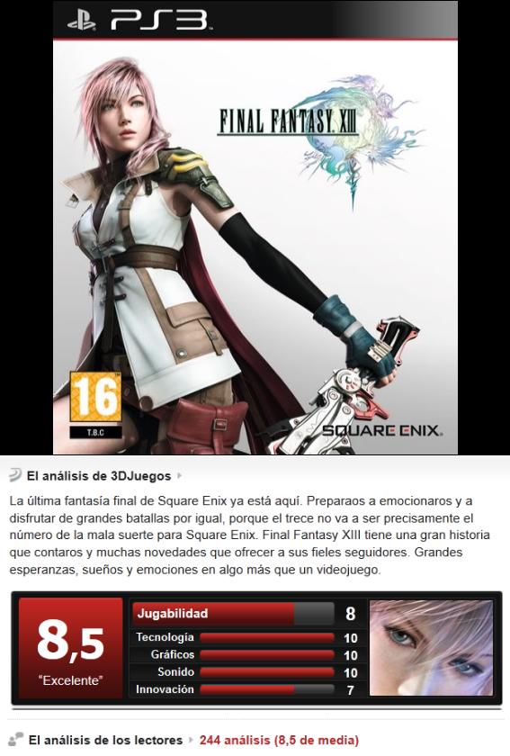 Final Fantasy XIII [PS3][Eng][Sub Esp][3.55]
