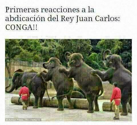 Chiste Abdicación Rey Juan Carlos Elefantes