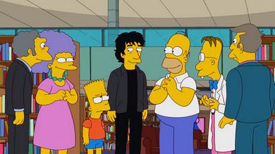 """""""Neil Gaiman"""" autor de libros fantásticos, hizo su debut en  los Simpsons"""