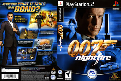 Jogo James Bond 007: NightFire PS2 DVD Capa