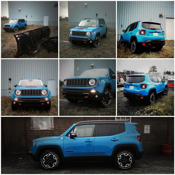 2015 Jeep Renegade Trailhawk collage