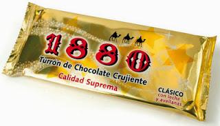 turrón de chocolate crujiente 1880