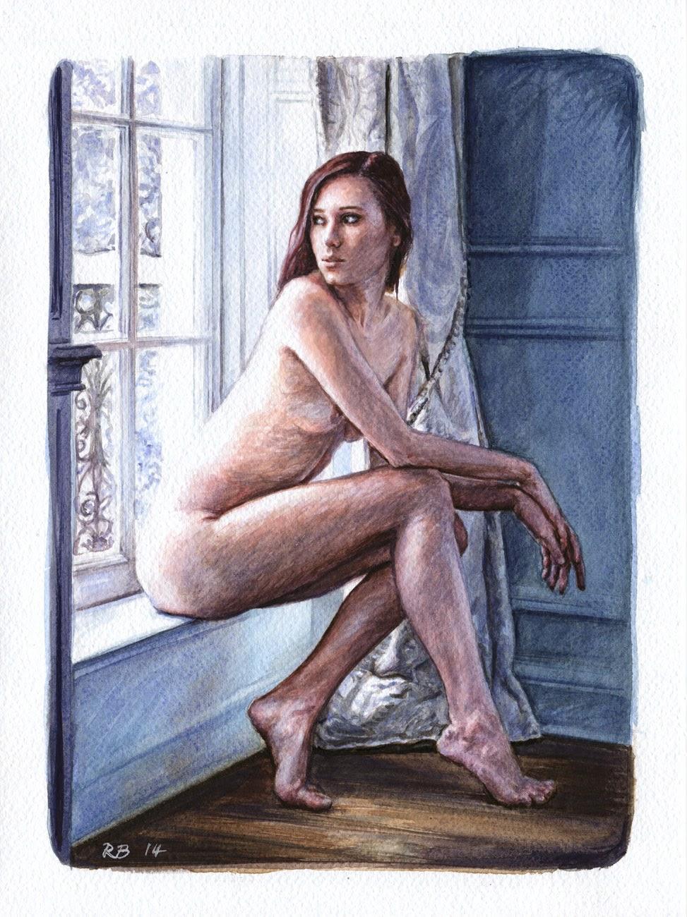 René Bui - Etude de nu à l'aquarelle 140113 - 2014