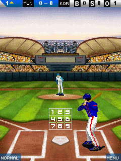 Screenshots of the World league baseball for java mobile, phone.