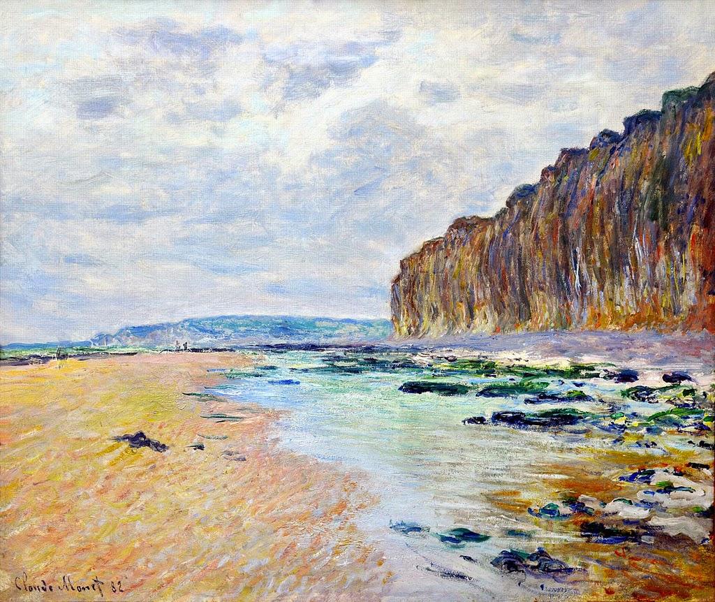Varengeville, marée basse (1882)
