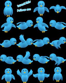 Kumpulan Gambar Burung Twitter Berwarna Biru