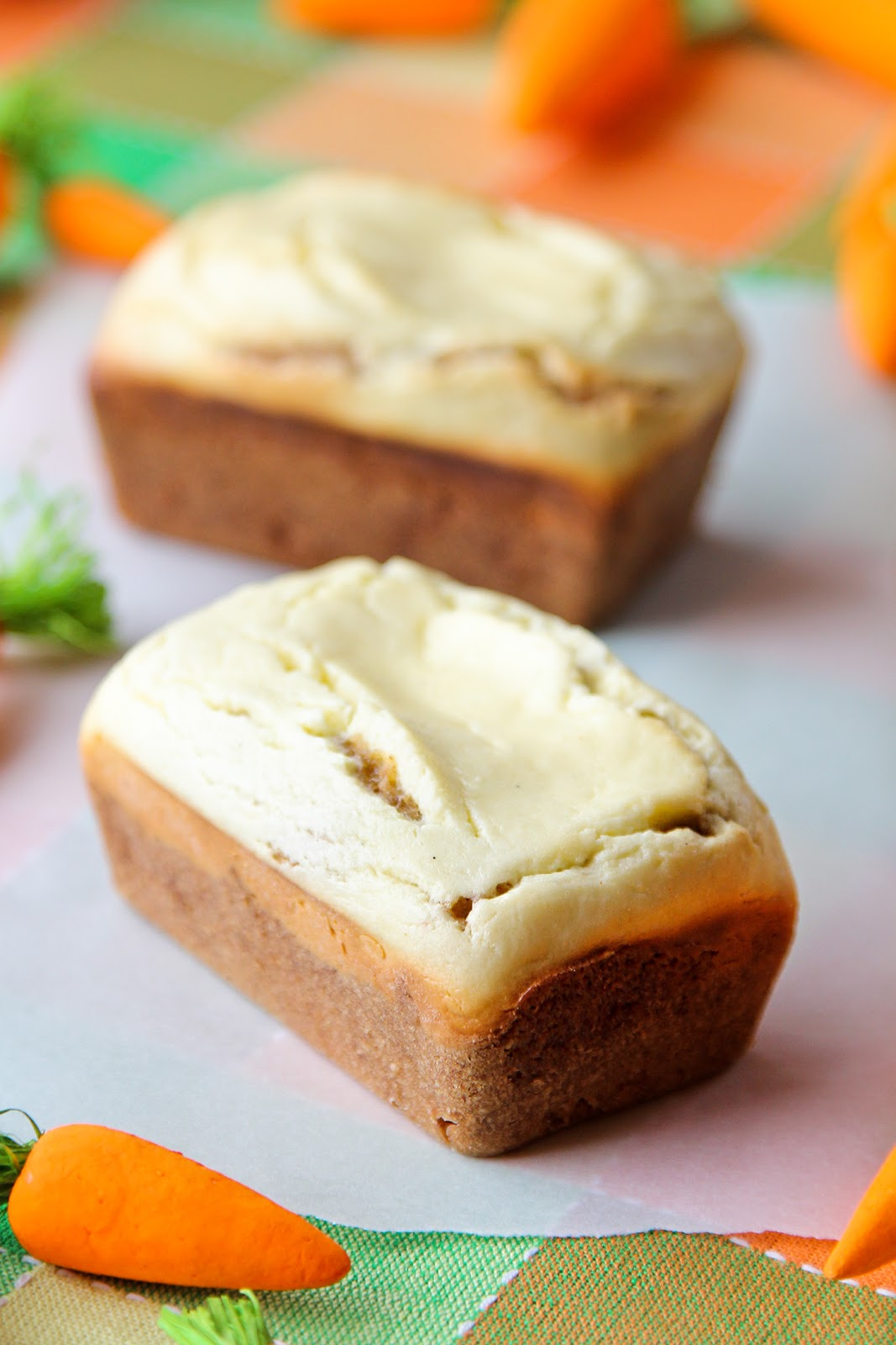 ... Made Simple: Mini Carrot Cake Loaves with Baked Cream Cheese Topping