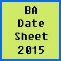 BA Date Sheet 2016 Punjab University PU Lahore