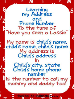 Name and Address Freebie The Teaching Bug