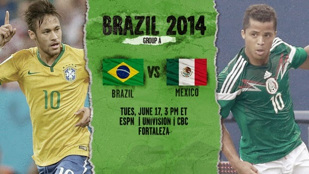 Brazil vs. Mexico live 2014 FIFA WORLD CUP