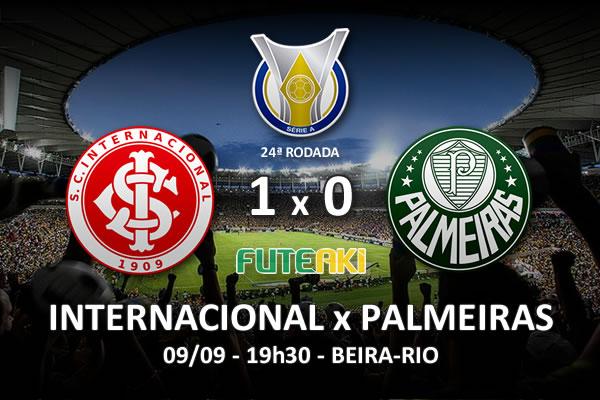 Veja o resumo da partida com o gol e os melhores momentos de Internacional 1x0 Palmeiras pela 24ª rodada do Brasileirão 2015.