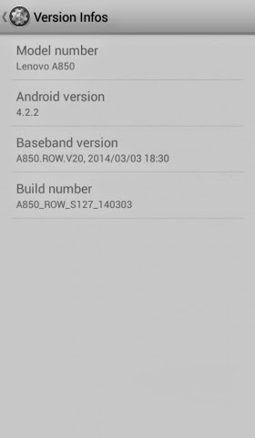 How to Update Lenovo A850 with A850_ROW_S127_140303 Latest Firmware