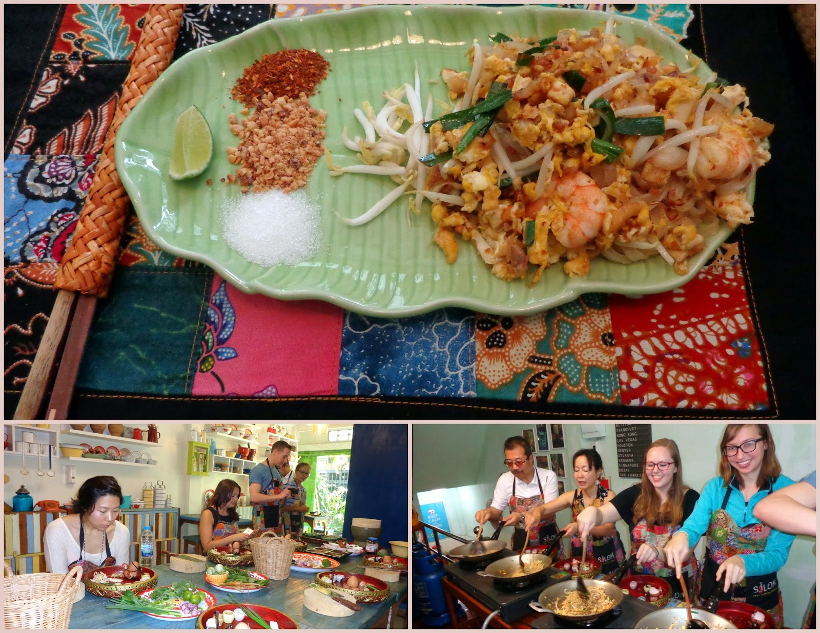 Pad Thai at Silom Thai Cooking School in Bangkok