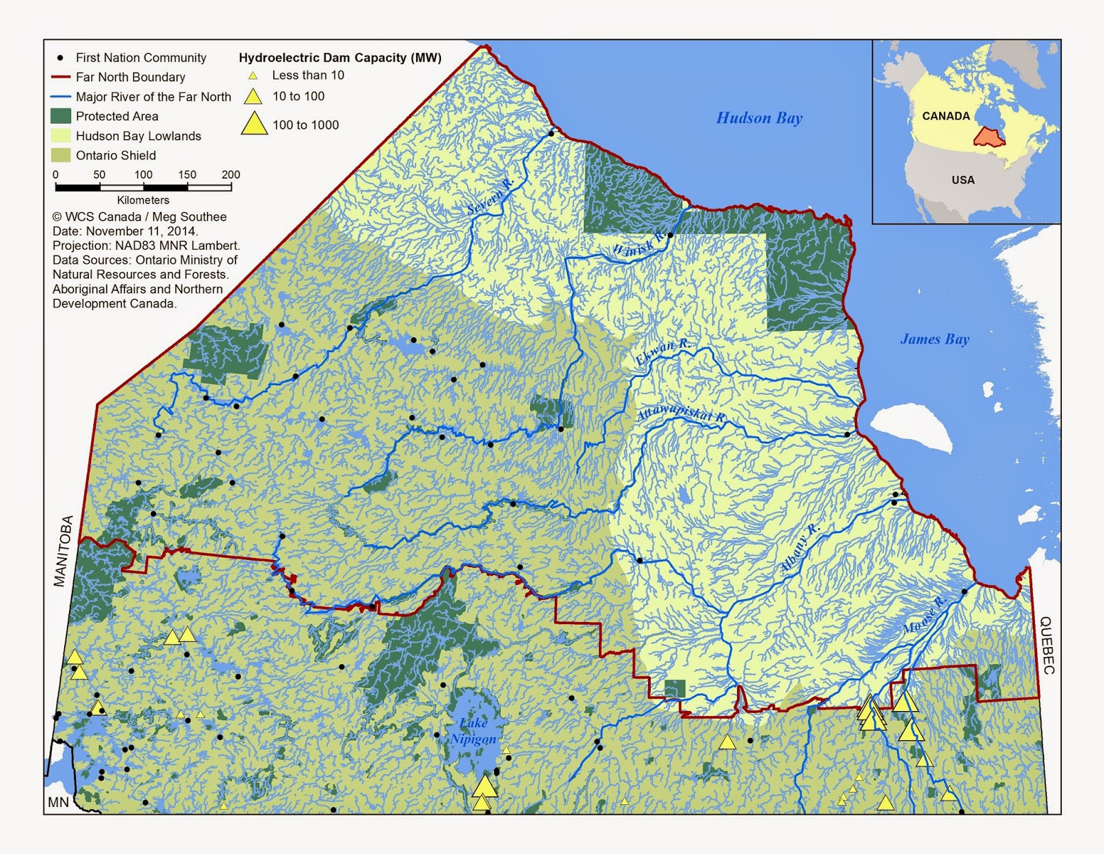 A Picture Paints A Thousand Words But A Map Paints A Million - Major rivers in canada map