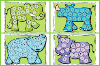 Roll N' Cover Zoo Animals Addition Game Mat