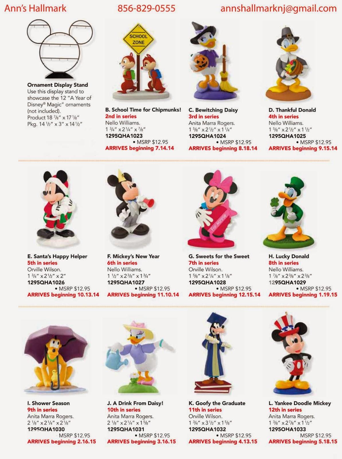 Disney Musings Hallmark Disney Ornaments Order Form