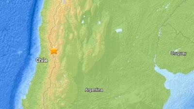 SISMO DE 5,7 GRADOS SACUDE REGIONES DE CHILE, ARGENTINA Y PERU