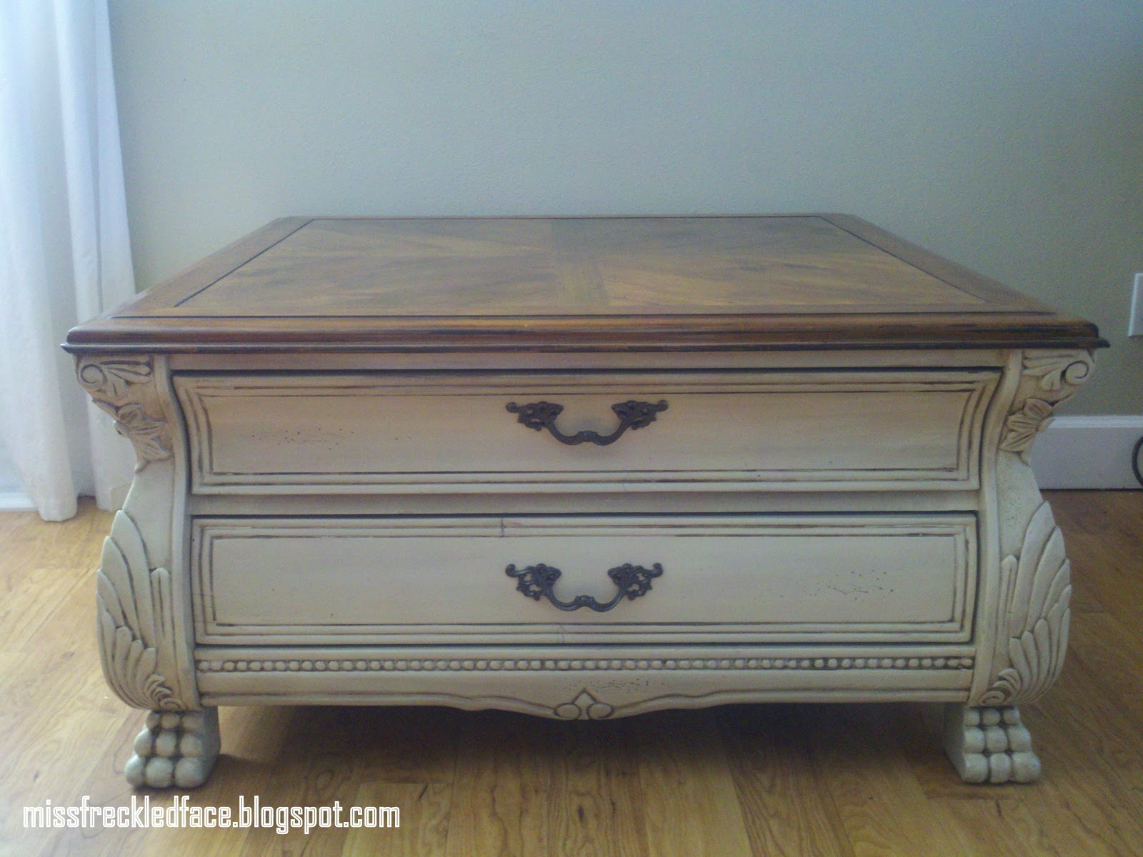 Miss Freckled Face Cream Distressed Coffee Table 129 Sold