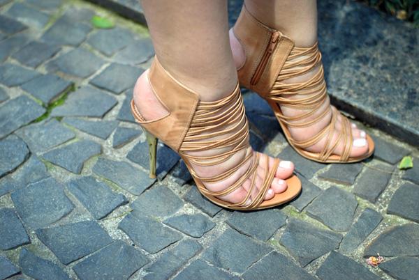 Look - sandália nude Vizzano