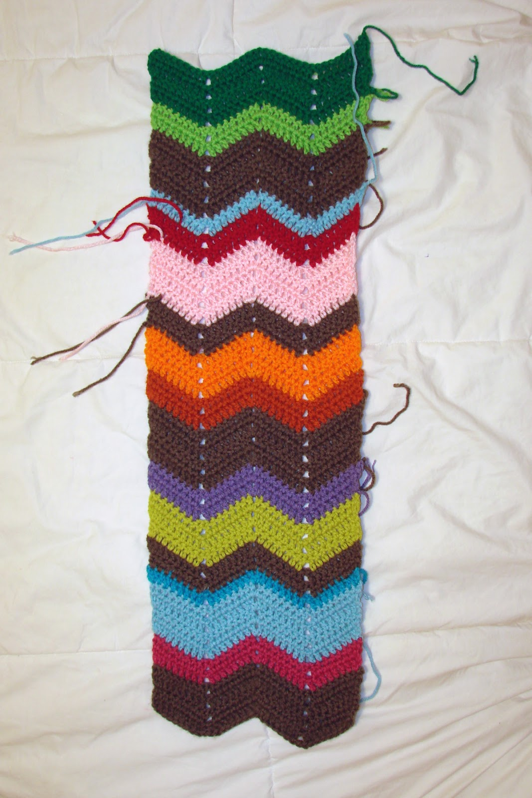 Crochet in color chevron scarf pattern crochet in color dt1010fo