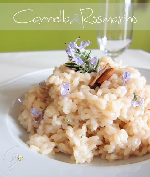 Risotto cannella e rosmarino in fiore - cinnamon and rosemary risotto