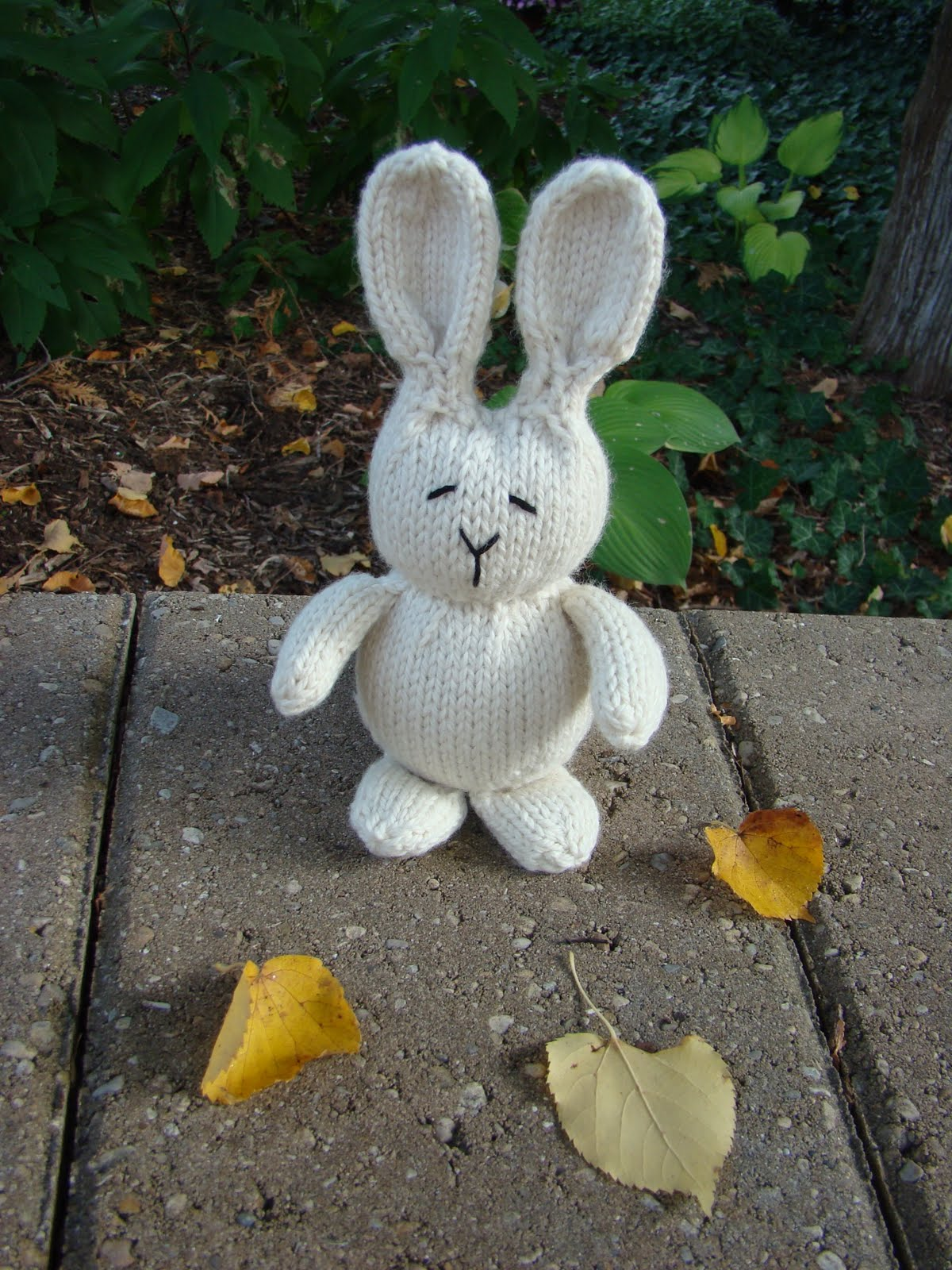 Knitted Rabbit Pattern : Susan B. Anderson: Bunny Knitting Season