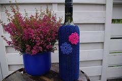 Pynt vinflaska med dekorativt trekk
