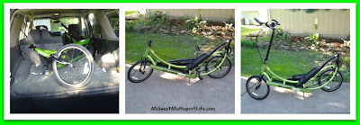 ElliptiGo Transport and Set-Up Collage