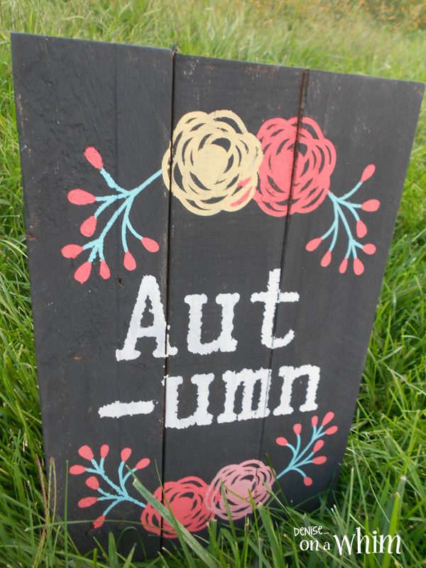 Bright Autumn Pallet Sign from Denise on a Whim